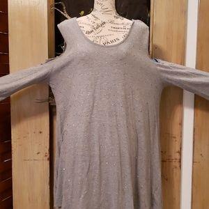 DKNY Cold shoulder top.